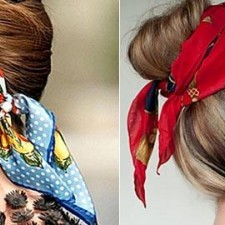 Ways to tether your scarf this spring and summer by adorning your hair!