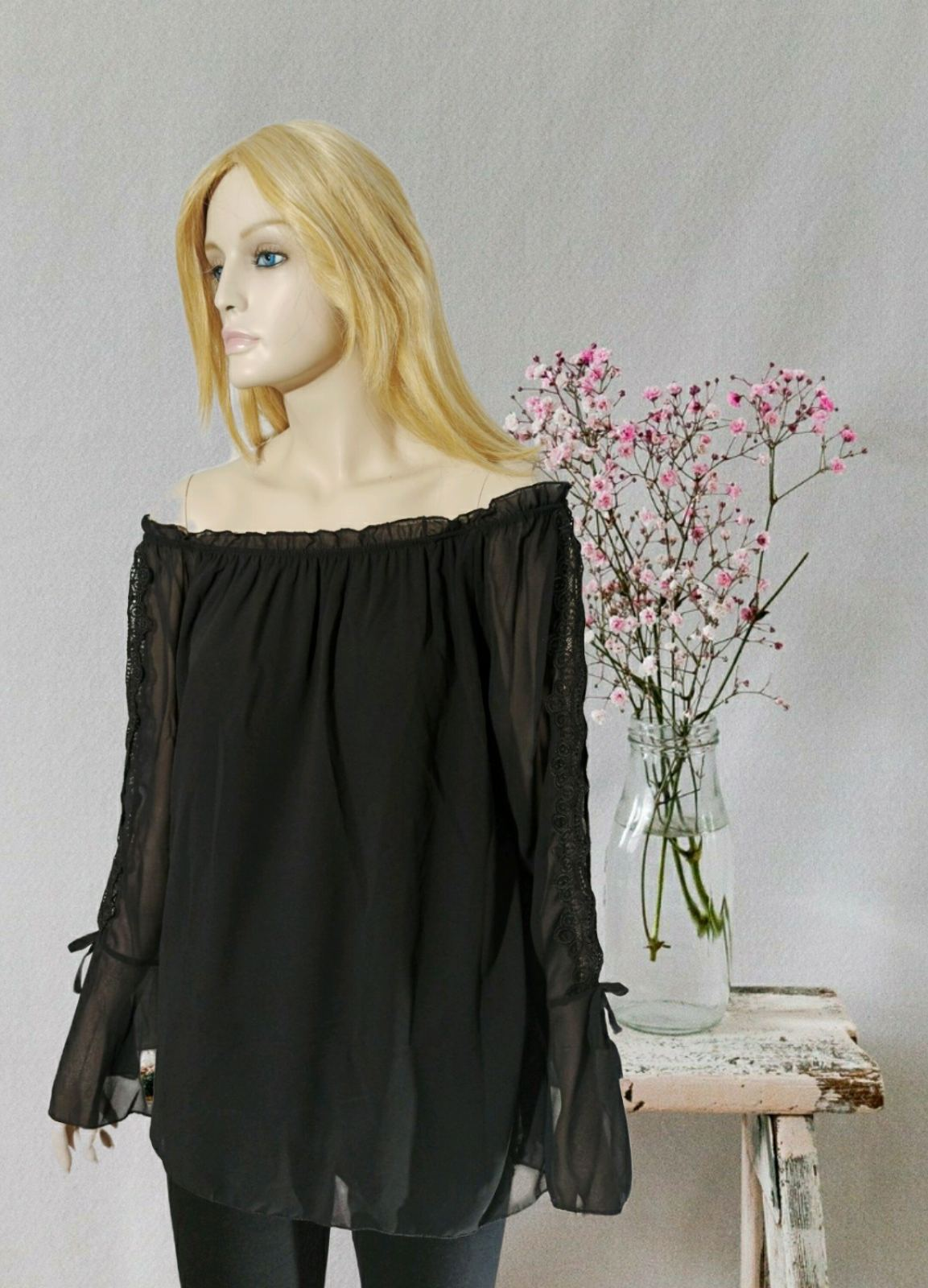 Black Smile Blouse
