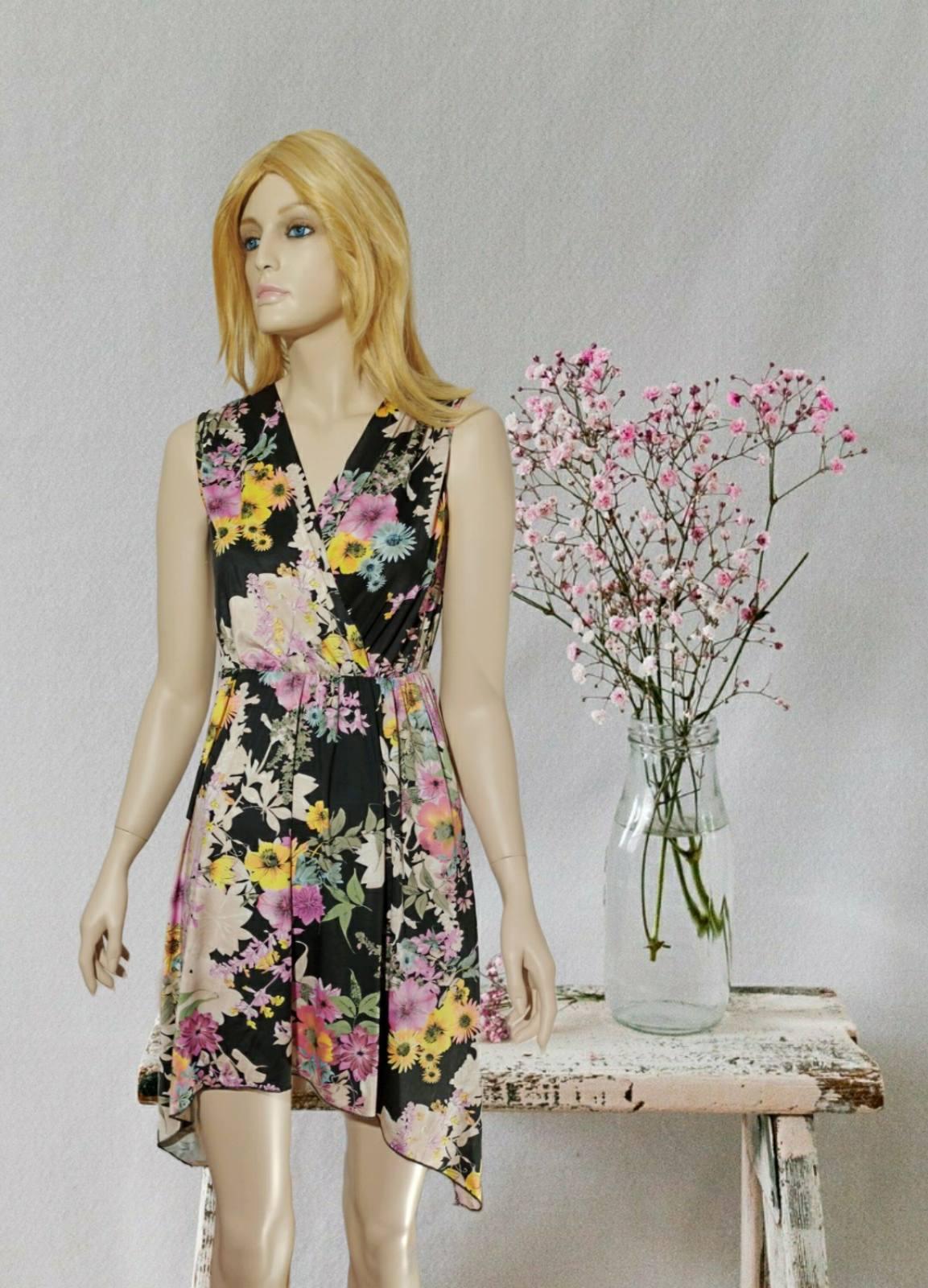 Midi Floral Black Dress