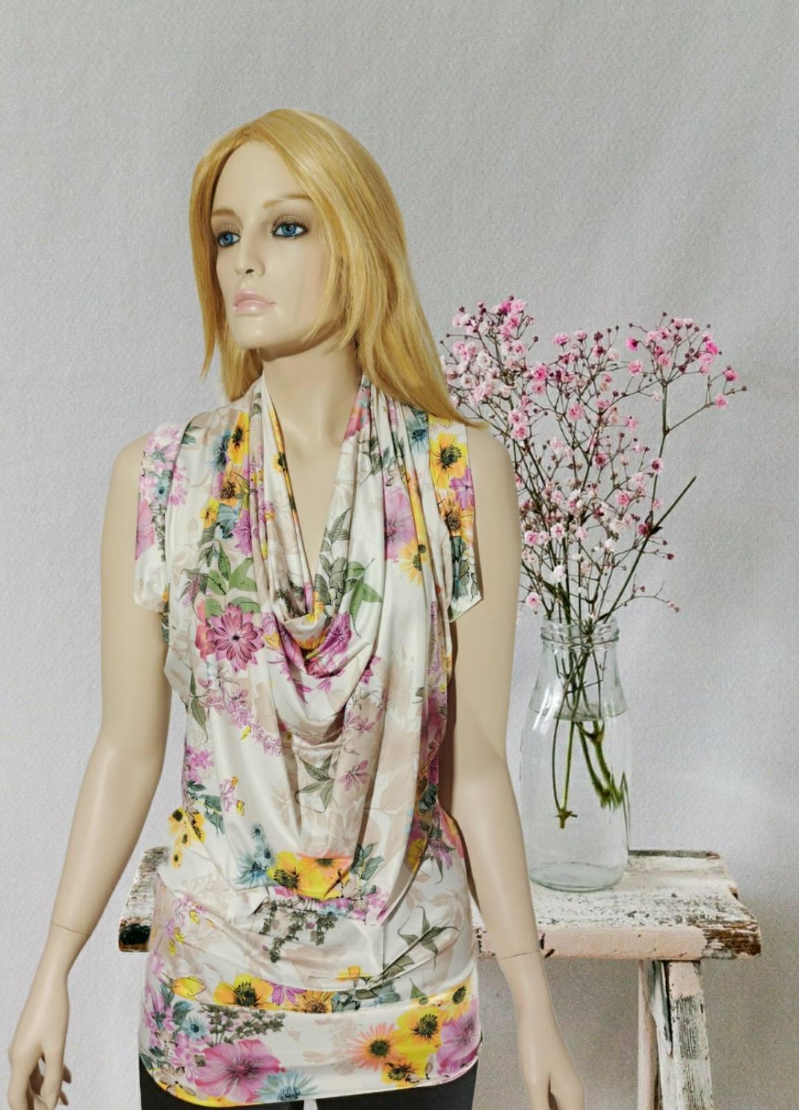 Floral Drape blouse