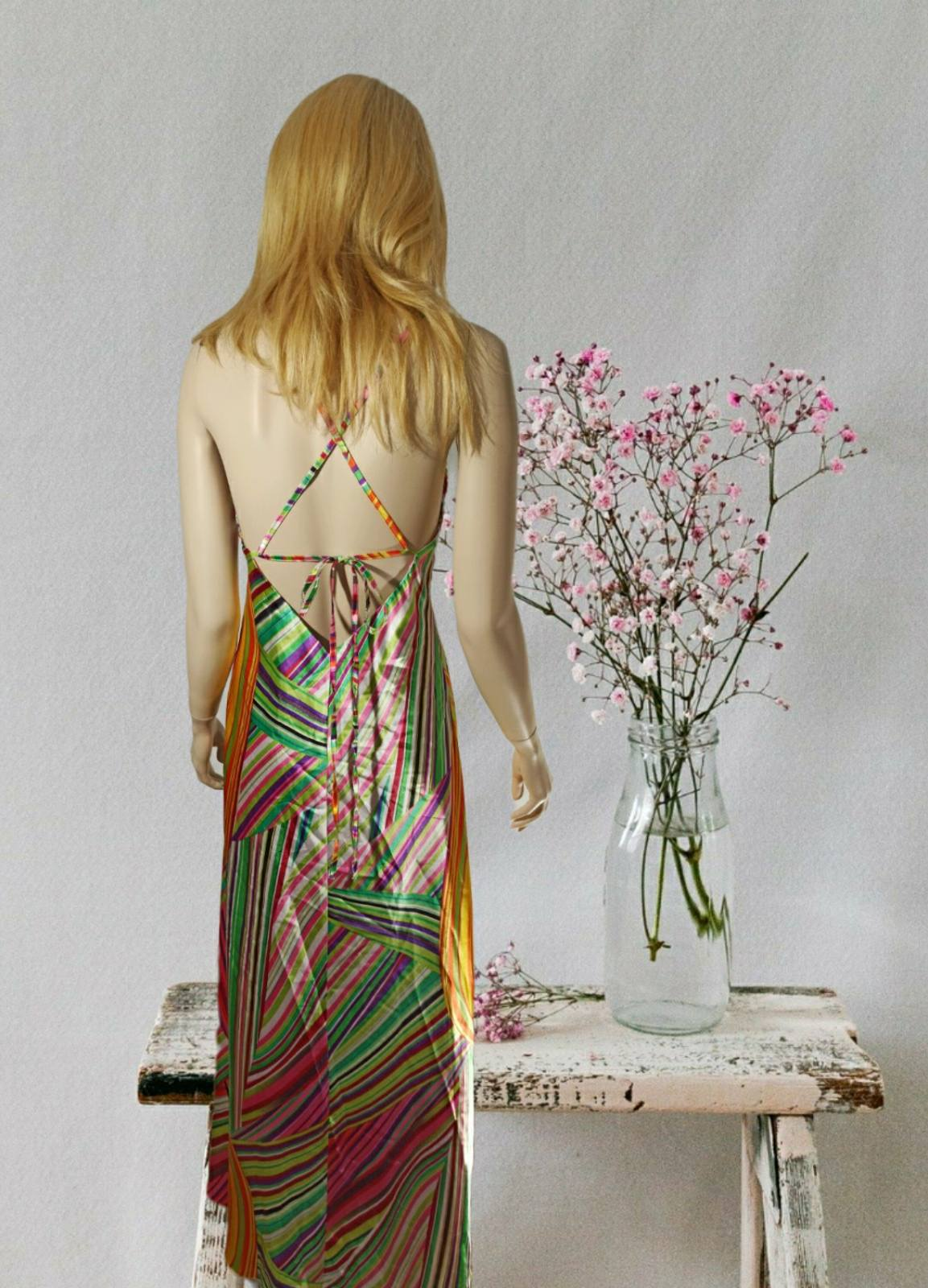 Maxi Satin Dress