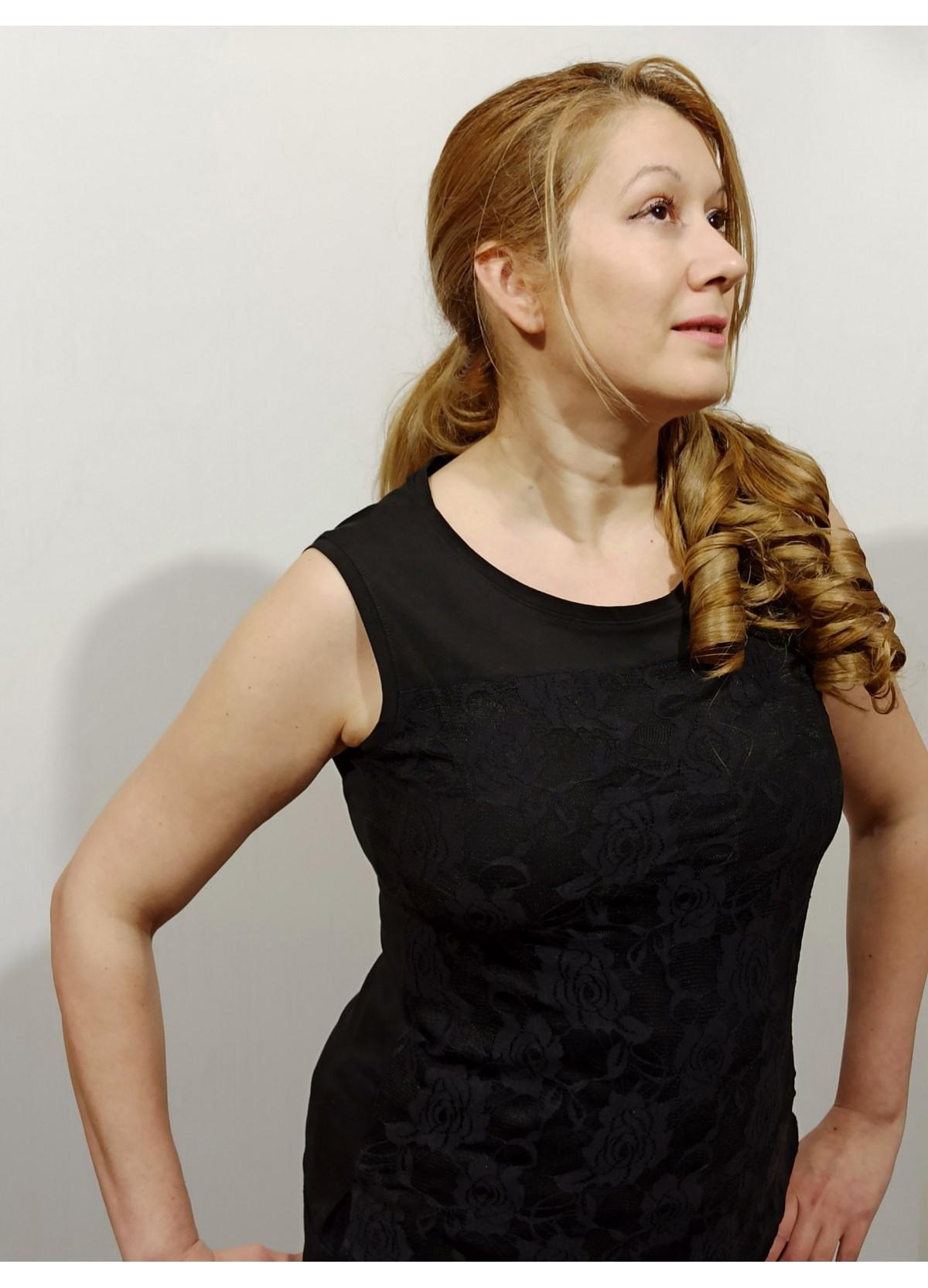 Rose Black lace blouse