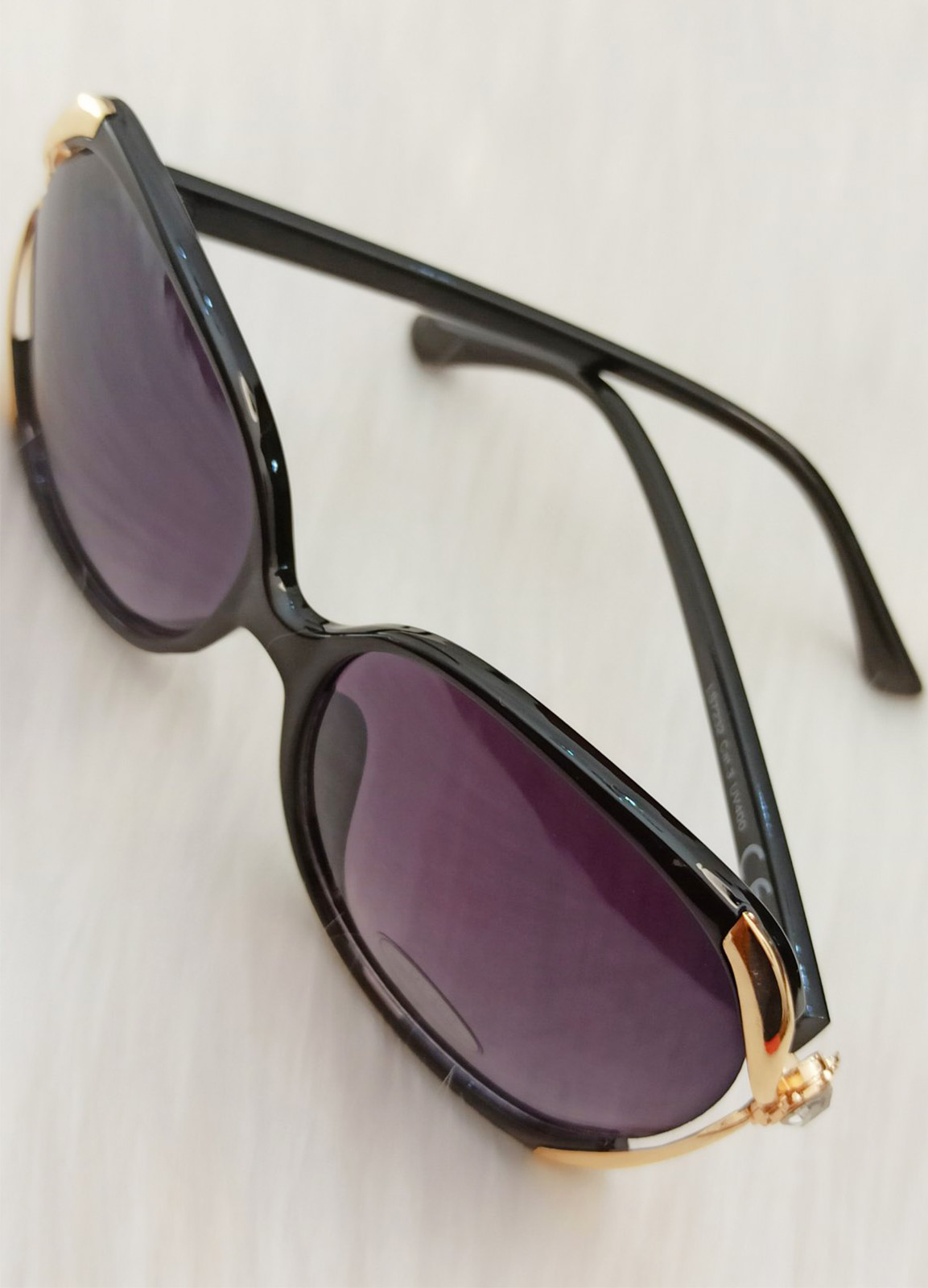 Sun Glass Diamond Black