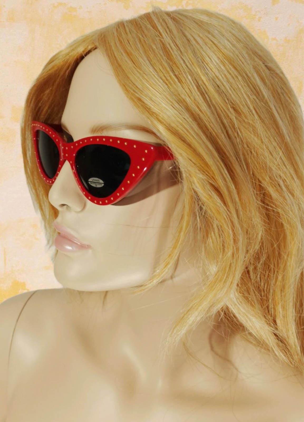 Sun Glass Eye Cat Red