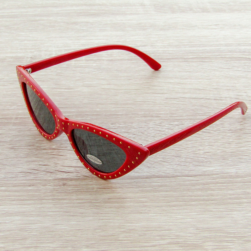 Sun Glass Eye Cat Red