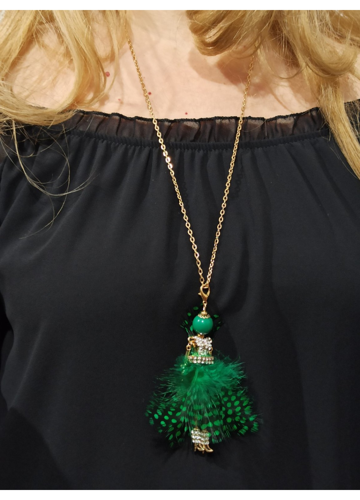 Green Fashion Girl Necklace