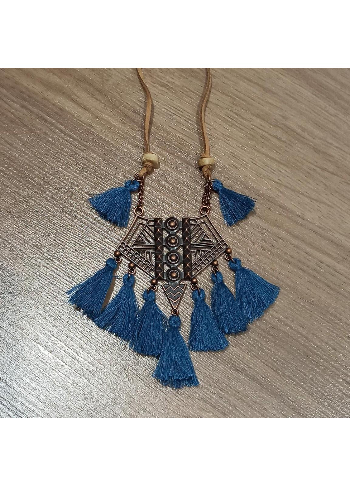 Blue-b Boho Necklace