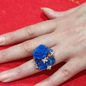 Blue Roses Ring