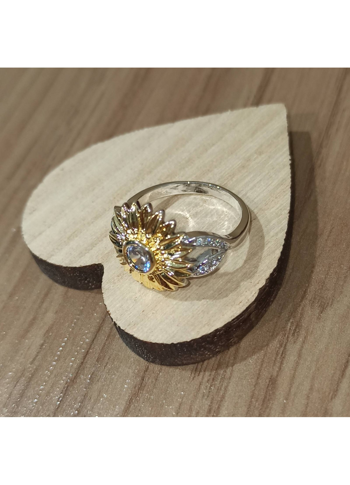 925 Silver Flower Ring
