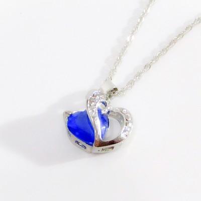 Diamond Jewelry Blue Necklace