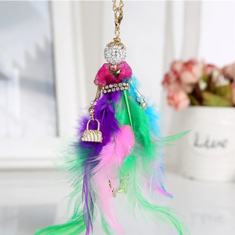 Rainbow Fashion Girl Necklace
