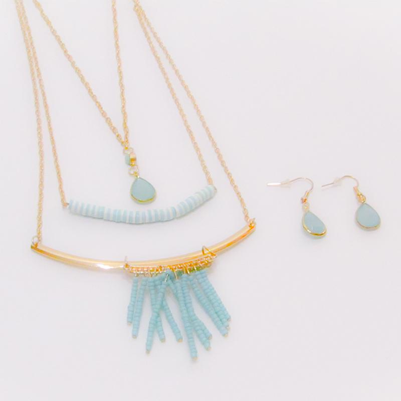 Set of Necklaces Happy
