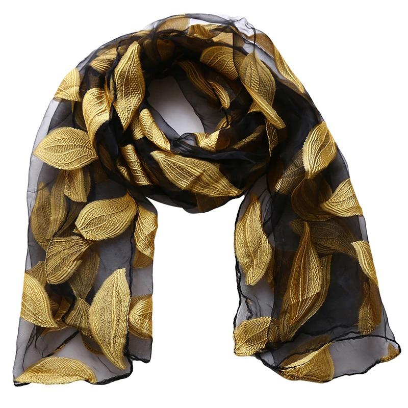Gold leaf scarf