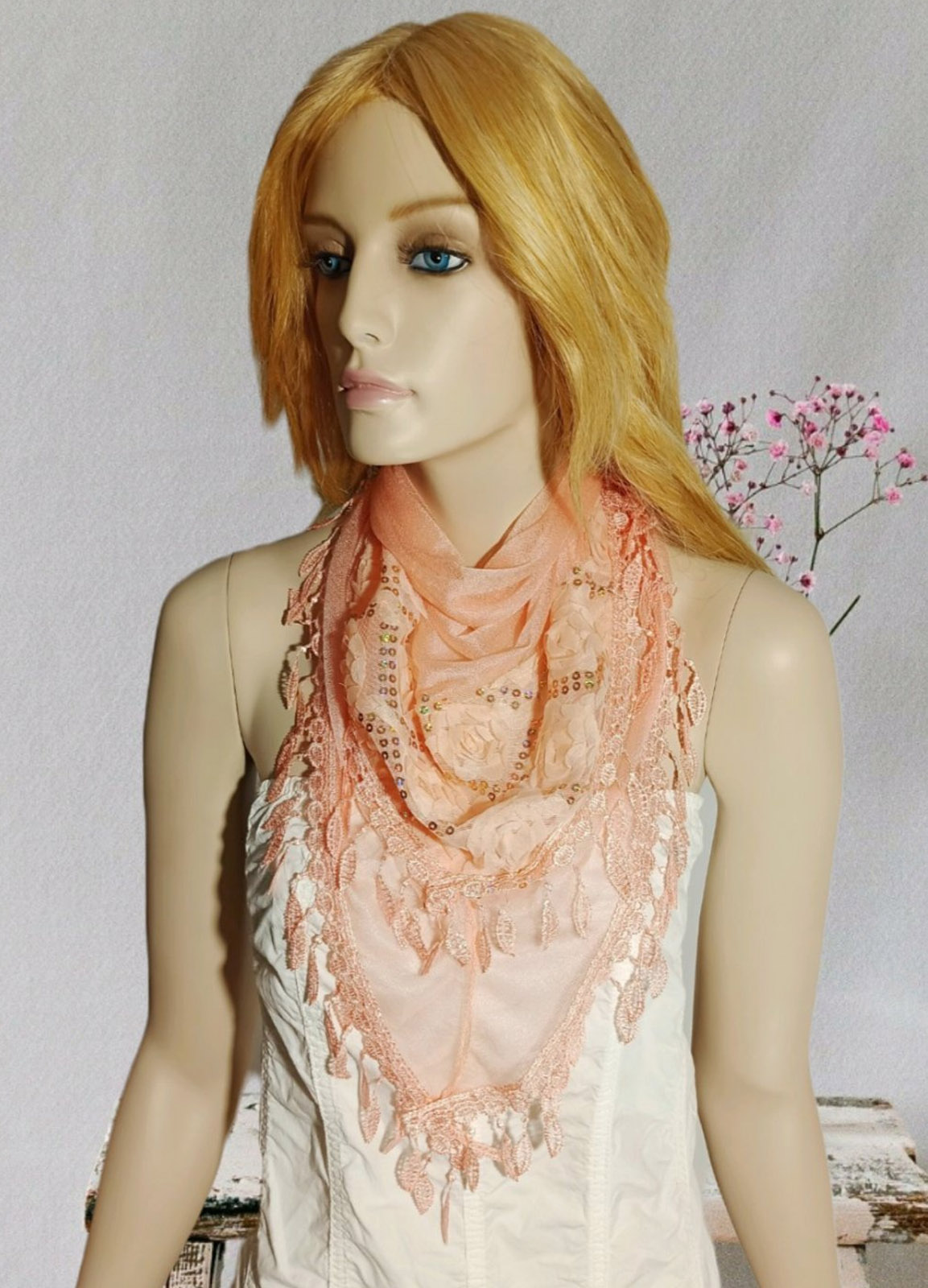 Romantic Flower Somon Scarf