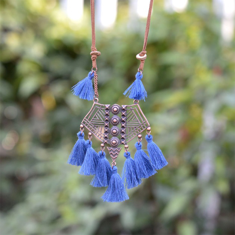 Blue-b Boho Necklace