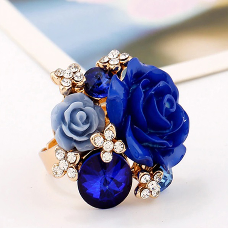 Blue Roses Ring