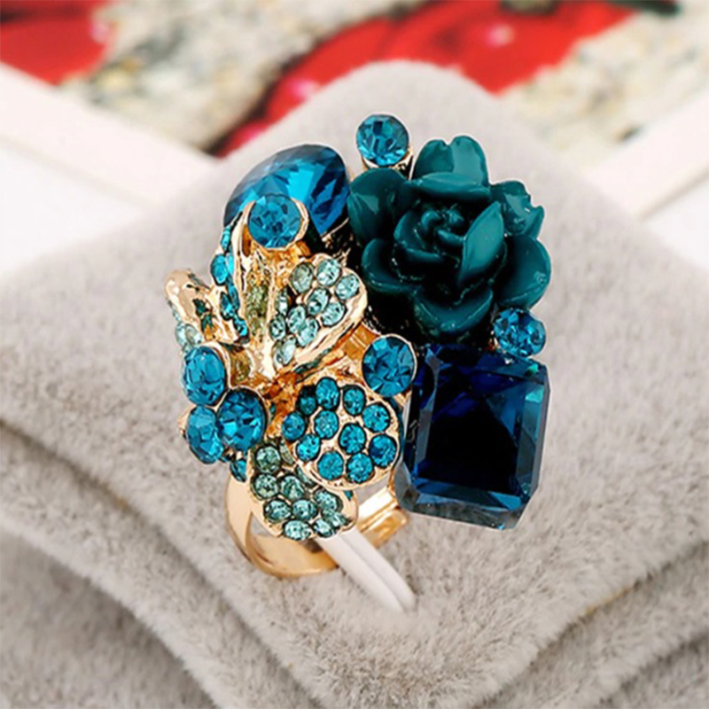 Green Roses and Stone Ring